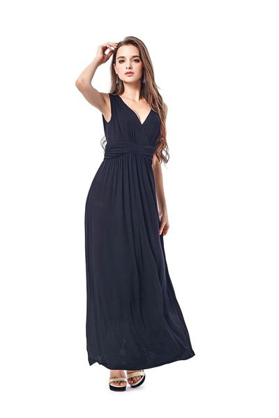 Sleeveless Summer Maxi Sun Dress